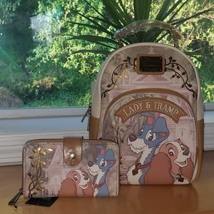 Loungefly Lady & Tramp Mini Backpack & Wallet Set